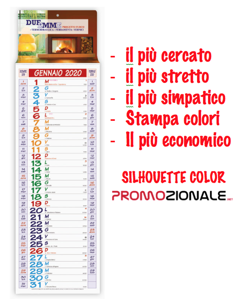 Calendario da muro SILHOUETTE color mod. CA 670
